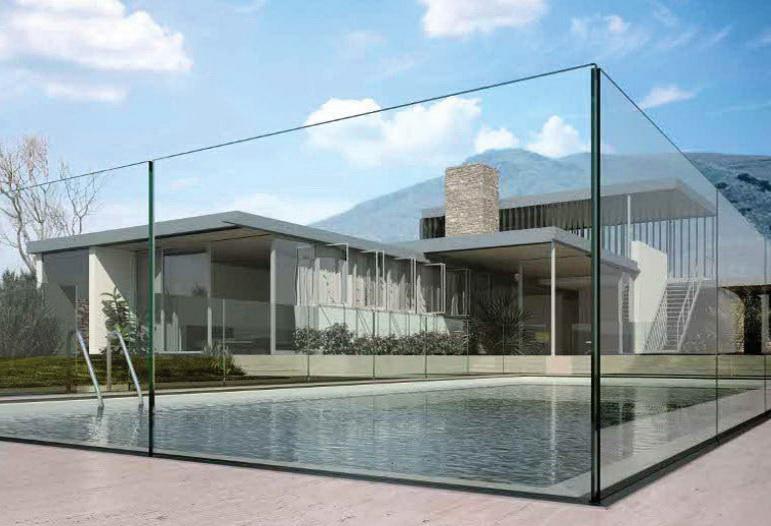 """Самонесущее стеклянное ограждение защитит от ветра и попадания листьев в ваш бассейн - <span style=""""color: #ffff00;""""> Увеличить!</span>"""