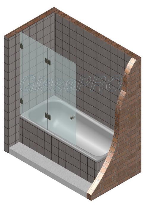"""""""Стеклянные шторки для ванны"""" – добавляем ванне функции душевой кабины."""