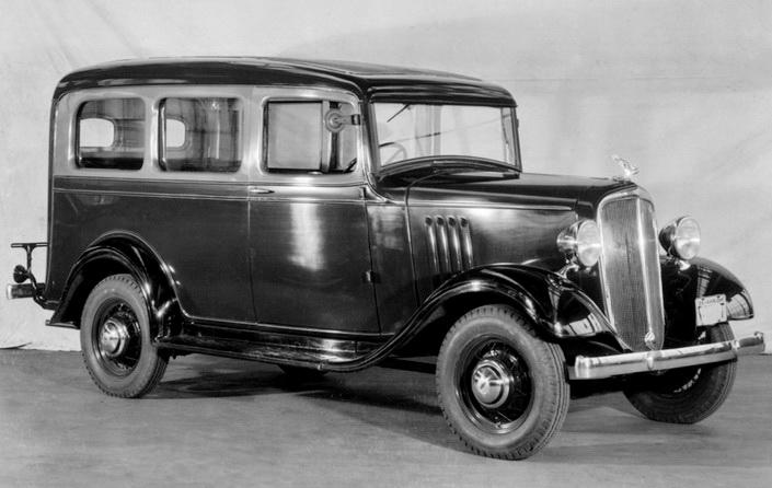 """Начало применения закаленного стекла для автомобильной промышленности в 1930-е годы. Плоское закаленное ветровые стекло легкового автомобиля - <span style=""""color: #ffff00;""""> Увеличить!</span>"""